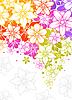 Векторный клипарт: Цветочные красочный фон