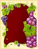 Векторный клипарт: Векторные винограда кадр с бутылкой
