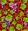 Векторный клипарт: Бесшовный фон из винограда