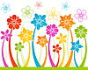 Vector clipart: Floral horizontal seamless background