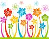 Floral horizontale nahtlose Hintergrund