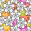 Vector clipart: flower seamless background