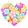 Vector clipart: Colorful floral heart