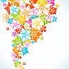 Векторный клипарт: Цветочные красочный фон. Стиль цветы границы кадра