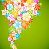 Цветочные красочный фон. Стиль цветы границы кадра.