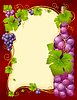 grape frame with bottle