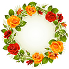 round red and yellow rose wreath