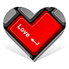 Vector clipart: heart enter love