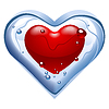 Vector clipart: heart. Thawing ice