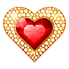 Vector clipart: heart jewelry