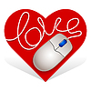 Vector clipart: heart mouse