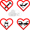 Vector clipart: valentines hearts cards