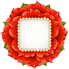 Vector clipart: Vector Red Rose circle frame