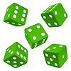 ID 3271212 | Green dice set. Vector icon | Stock Vector Graphics | CLIPARTO