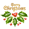 Vector clipart: Christmas and New Year Vector holly decoration