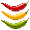 Vector clipart: Hot chilli peppers set