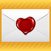 Vector clipart: Envelope with wax seal in the shape of heart