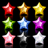 Vector clipart: Set of nine jewelry stars