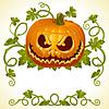 Vector clipart: Pumpkin Jack vintage pattern