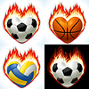 Football, basketball and volleyball - balls