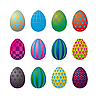 Vector clipart: Op Art Easter Eggs