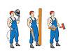 Vector clipart: buildermans