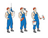 Vector clipart: builderman