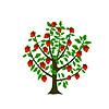 Векторный клипарт: Гранатовое дерево