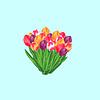 Векторный клипарт: Tulip букет