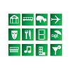 Векторный клипарт: Набор развлечений и путешествий иконки