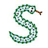 Dekorative Buchstaben S in der Form der Schlange
