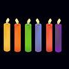 Векторный клипарт: Цветные свечи