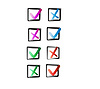 Vector clipart: Yes and no buttons for web