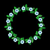 Blue flowers wreath