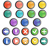 Round buttons set with basic web icons