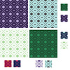 Diamond seamless patterns with lines of small circles