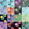 Набор разноцветных цветочных бесшовные модели