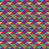 Seamless triangle geometric multicolored pattern