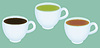 Vector clipart: Realistic cups with tea and espresso