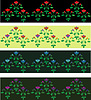 Vector clipart: Four seamless floral decorative borders