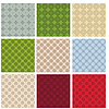 Set of 9 simple abstract seamless patterns