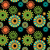 Seamless abstract multicolored round shapes