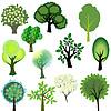 Vector clipart: Vector trees collection
