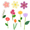 Vector clipart: Fantasy flowers collection