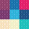 Набор бесшовные модели разных цветов