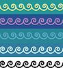 ID 3328571 | Seamless spirals ornamental borders | Stock Vector Graphics | CLIPARTO