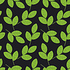 Vector clipart: Seamless foliage on dark background