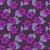 Vector clipart: Seamless purple flowers pattern