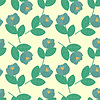 Vector clipart: Seamless blue flowers on cream background
