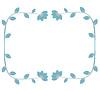 Vector clipart: Blue decorative floral frame